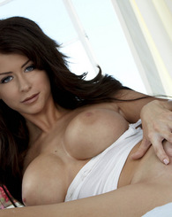 Emily Addison shows off her voluptuous body for the camera