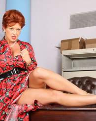 Raquel Devine plays the perfect Mrs Cunningham as she poses for you