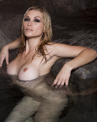 Heather gets naughty in the grotto