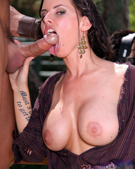 Busty brunette Brandy Aniston loves outdoor sex
