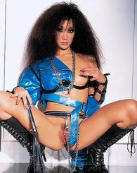 Exotic fetish Asian slut in leather fucking anal and cumshot