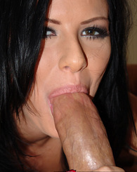 Pierced brunette likes to show off her anal skills taking a big cock in the ass