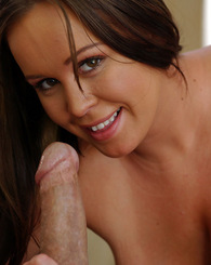 Brandy loves cock so much that she puts it in her mouth and pussy before getting fucked in her huge natural tits.
