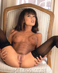 Nasty Thai girl in black stockings sucking and fucking a guy